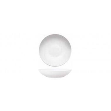 Piatto coupe fondo Saturno Bianco