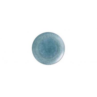 Piatto frutta Studio prints raku blu topazio