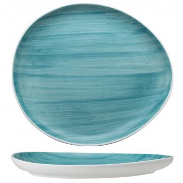 Piatto ovale B-Rush azzurro grande
