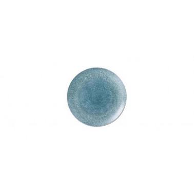 Piatto pane Studio prints raku blu topazio