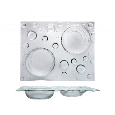 Piatto rettangolare Bubble