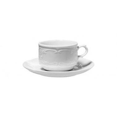 Tazza colazione Flora Bianco