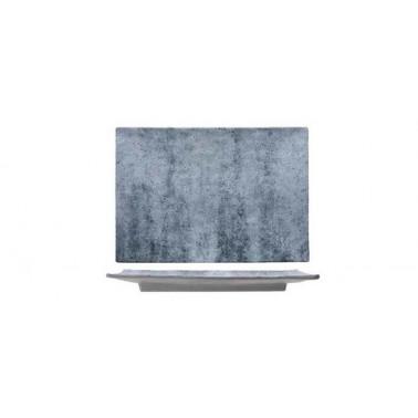 Vassoio rettangolare effetto cemento Buffet melamina