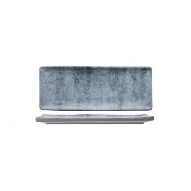 Vassoio rettangolare lungo effetto cemento Buffet melamina
